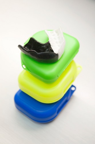 Mouthguard and stack of cases
